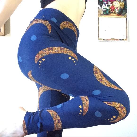 Lularoe Midnight Blue Half Moon Gypsy Leggings